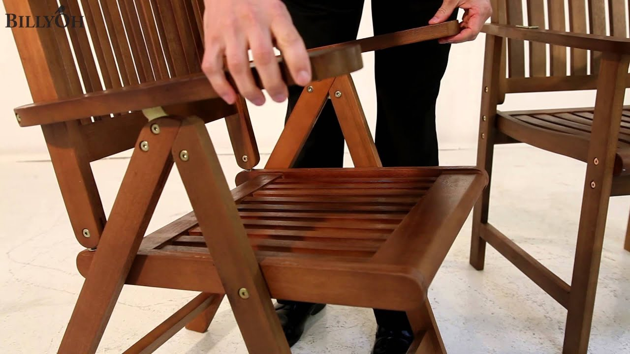 BillyOh Folding Chair, Reclining Chair And Armchair   YouTube
