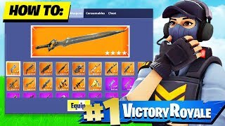 HOW TO GET THE INFINITY BLADE IN FORTNITE CREATIVE