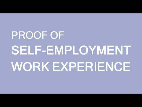 Proof of experience for Self employed individuals. Immigration to Canada. LP Group