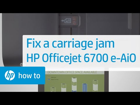 Fixing a Carriage Jam | HP Officejet 6700 Premium e-All-in-One Printer (H711n) | HP