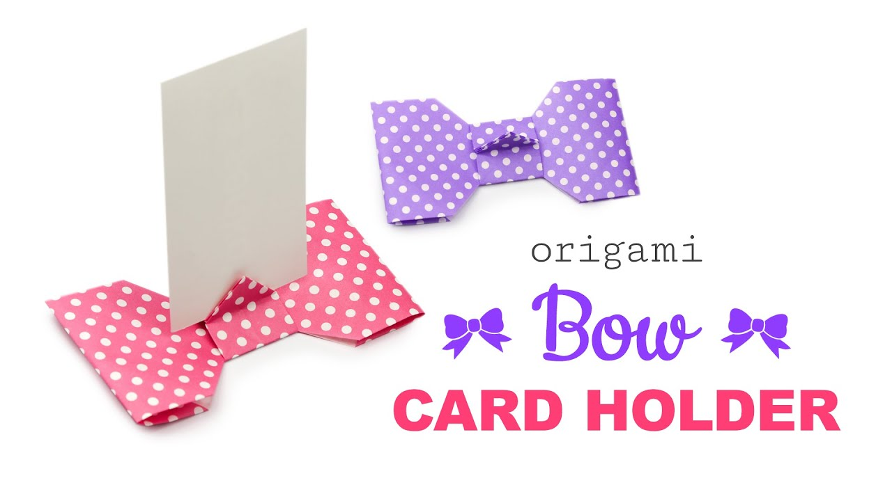 Origami Bow Shaped Card Holder Tutorial Modular ♥ DIY