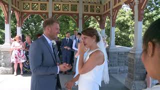Samantha and Martin Central Park Wedding Belvediere Castle
