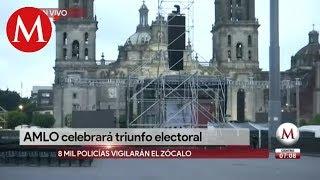 Alistan Zócalo para festejos y mensaje de AMLO