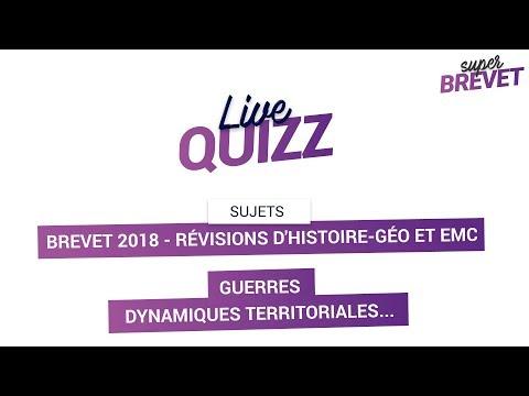 Brevet 2018 - Révisions d'Histoire-Géo et EMC en Live - Guerres / Dynamiques territoriales...