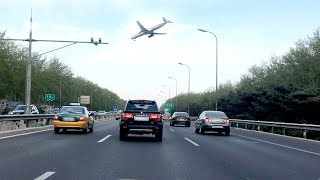 Driving to Beijing Capital International Airport (PEK) China