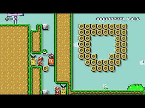 ちくわ落ち下投げ町内大会DonutDownThrowLight改 by あきコウラすき? - Super Mario Maker - No Commentary