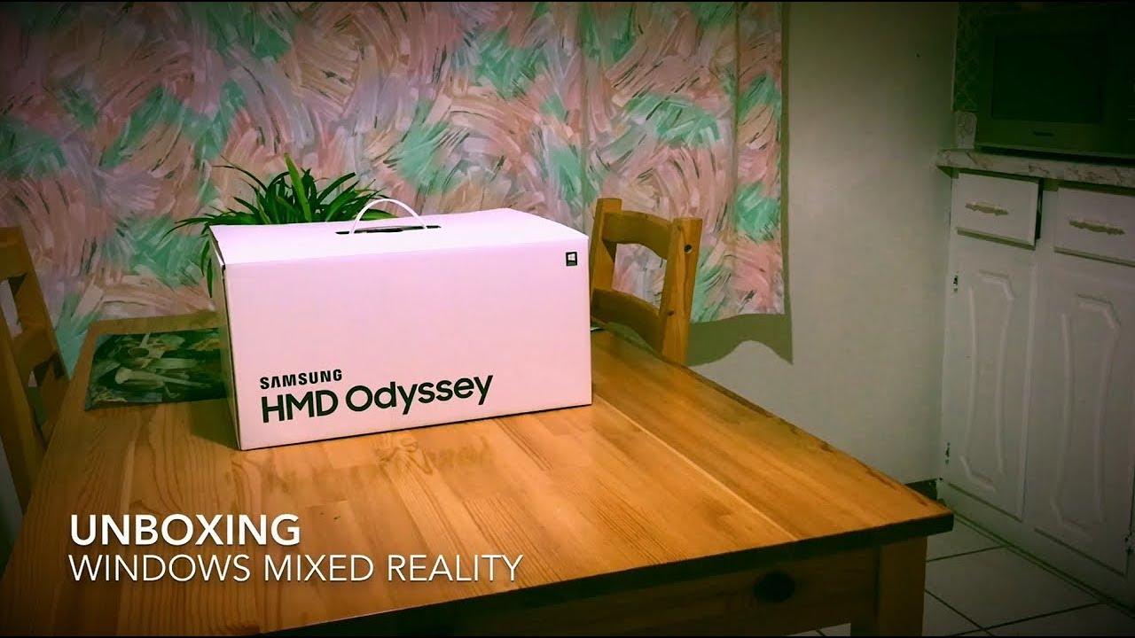 Unboxing Samsung Hmd Odyssey Youtube