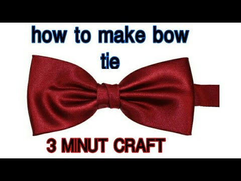 How to make bow tie in 3 minuts| life hack #diy