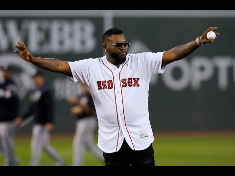 DJ Amili - David Ortiz Throws First Pitch At Fenway