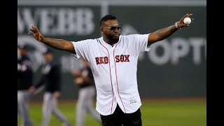 Red Sox's David Ortiz throws out 1st pitch at Fenway Park