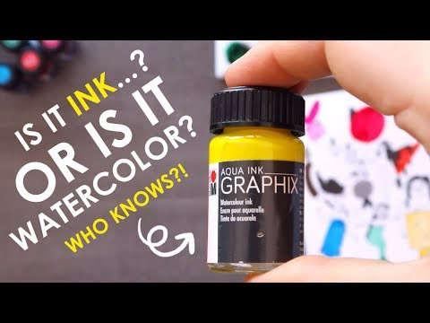 WHAT IS IT... Watercolor or Ink?  - Mystery Art Supplies Paletteful Pack thumbnail