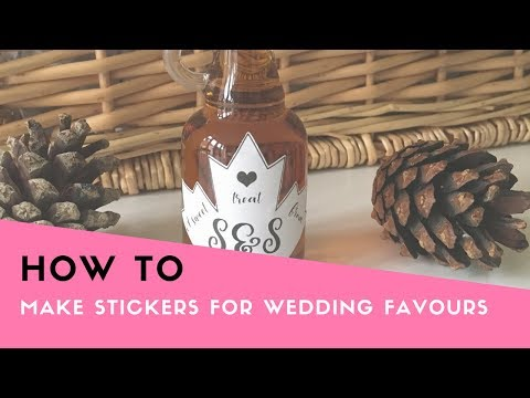 HOW TO: Make Stickers for Wedding Favors on a Cricut (Wedding DIY, DIY stickers, Cricut tutorial)