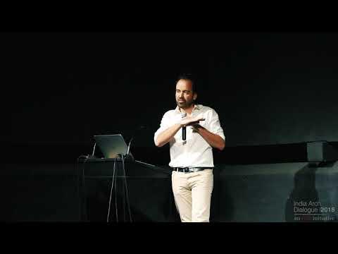 Photographer Iwan Baan speaking at IAD 2018