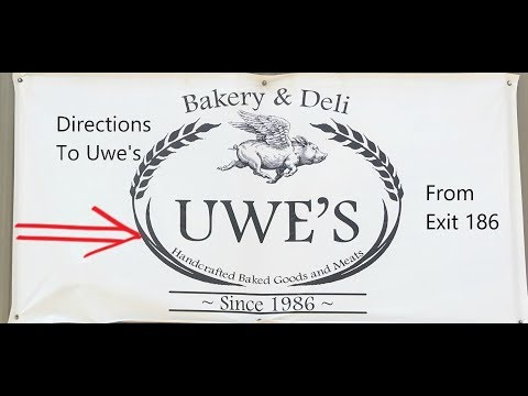 Driving Directions To Uwe's Bakery And Deli New Braunfels, Texas