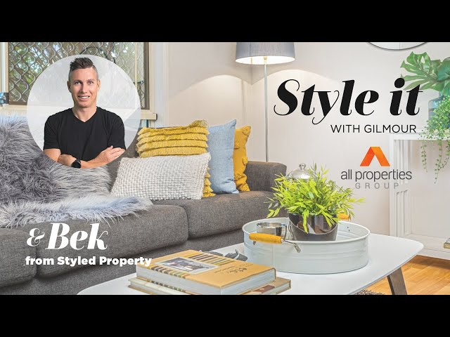 Creating a modern formal living space   Style it with Gilmour   Ep 11 with Bek with Styled Property