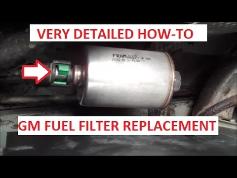 remove  replace  fuel filter youtube