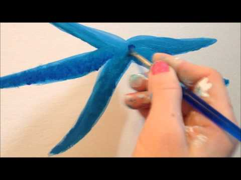 SHANNA HAMILTON  BLUE STARFISH ON BEACH MURAL 2014
