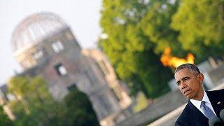 """أوباما يترحم على ضحايا هيروشيما و""""كل الأبرياء"""" الذين التهمتهم الحرب العالمية 2"""