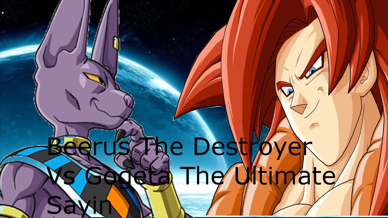 Super Sayin Gogeta Vs Beerus The Destroyer Dragon Ball What If