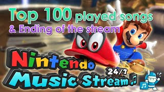 Top 100 Songs & Ending of the 24/7 Nintendo Music Stream