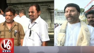 TTD Employees Protest With Black Badges Over Ramana Deekshitulu All...