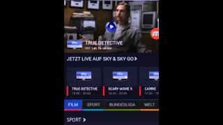 Login auf Android Handy bei Sky Go App
