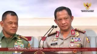 Pernyataan Kapolri Jenderal Tito Karnavian dan Panglima TNI Jend  Gatot Nurmantyo usai Rakor 21 10