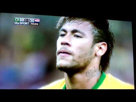 Brazil vs croatia world cup 2014 neymar penalty