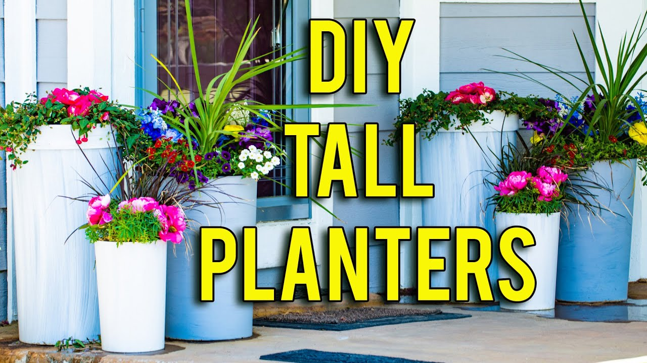 how to make tall planters so easy