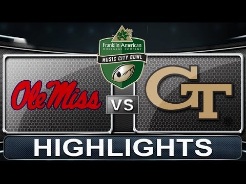 Ole Miss vs Georgia Tech | Franklin American Mortgage Music City Bowl | 2013 ACC Football Highlights