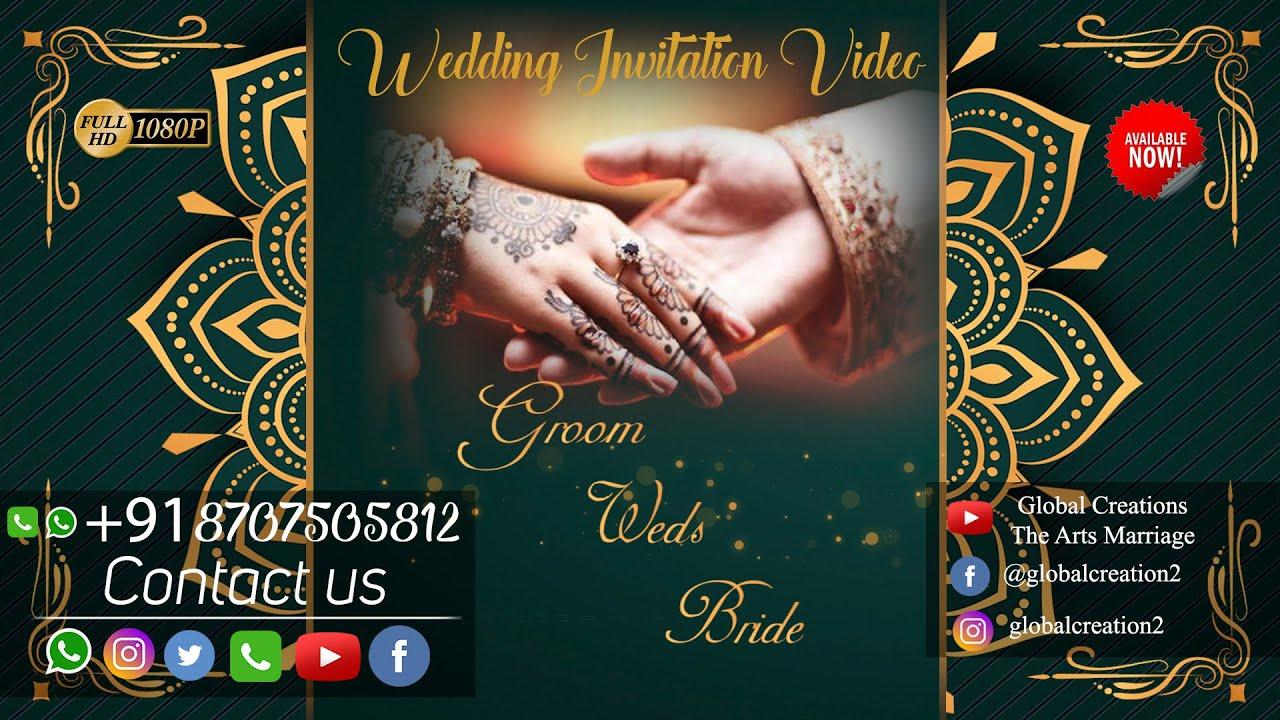 wedding invitation video e card