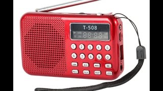 Mini Portable LCD Digital FM Radio Speaker USB Micro SD (TF) Card Mp3 Music Player