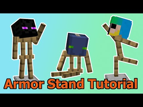 ARMOR STAND BOOK TUTORIAL - Beginners Guide - Minecraft 1.15