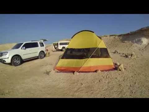 Camping in Qatar with good friends