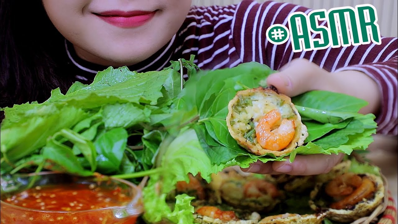 Asmr Banh Khot Glorious Vietnamese Crispy Pancakes Extreme Crunchy Eating Sounds Linh Asmr