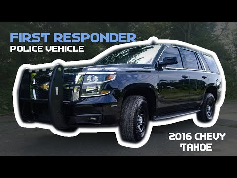 2016 Chevy Tahoe First Responder Vehicle 10-75 Emergency Vehicles