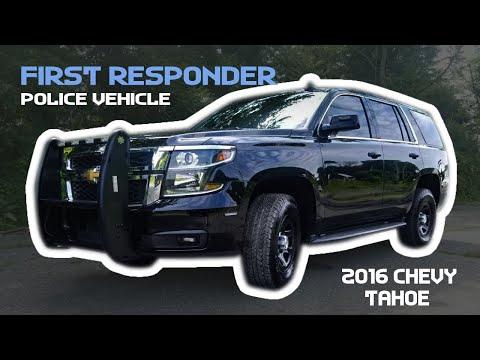 2016 Chevy Tahoe First Responder Vehicle 10-75 Emergency Vehicles