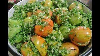 Зеленые квашеные помидоры - закуска, которая разлетается вмиг!