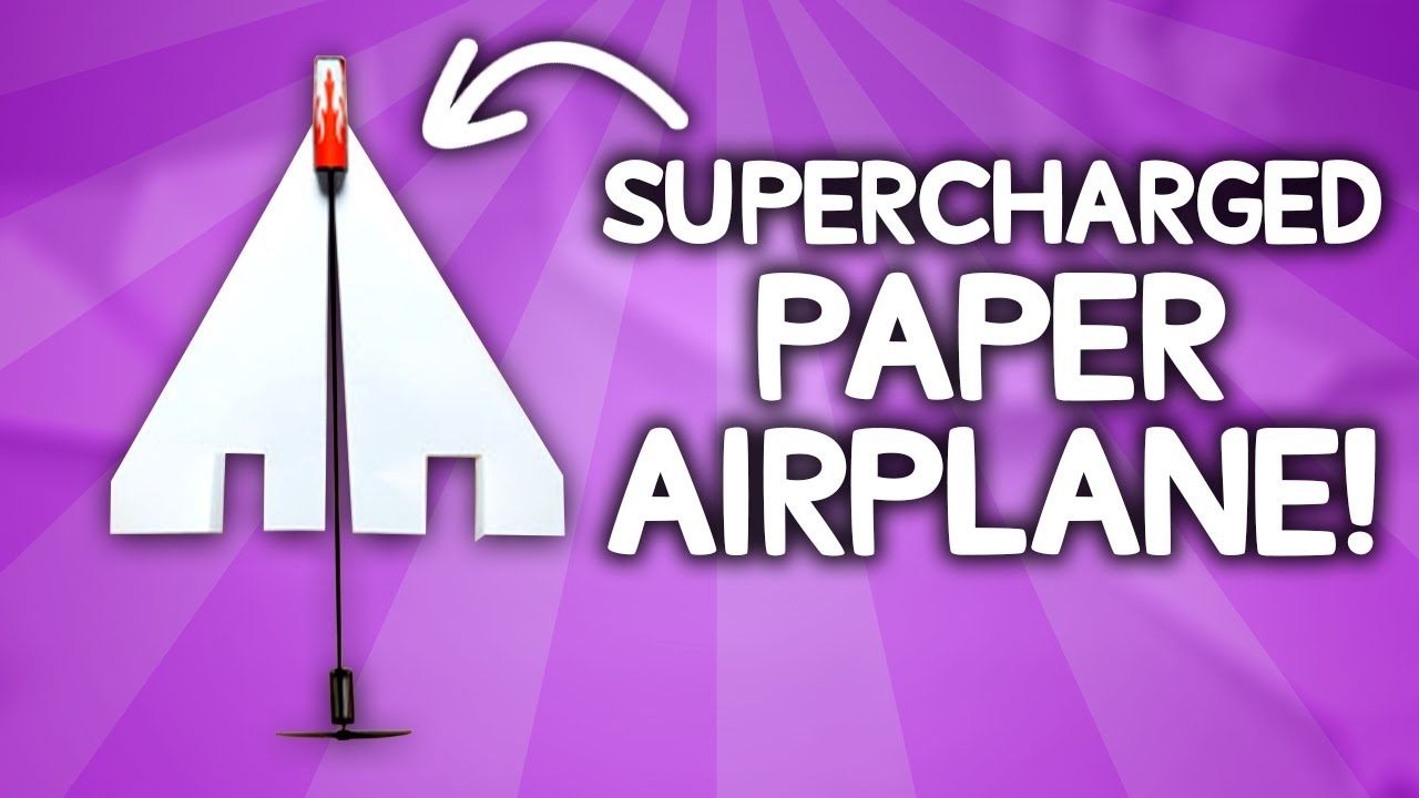 Motorize your paper airplane & achieve 30-second flight times!