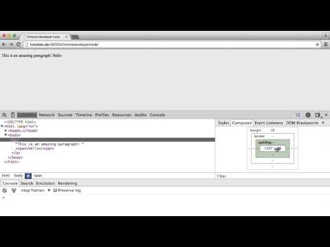 Using Chrome Developer Tools: Elements (1/6)