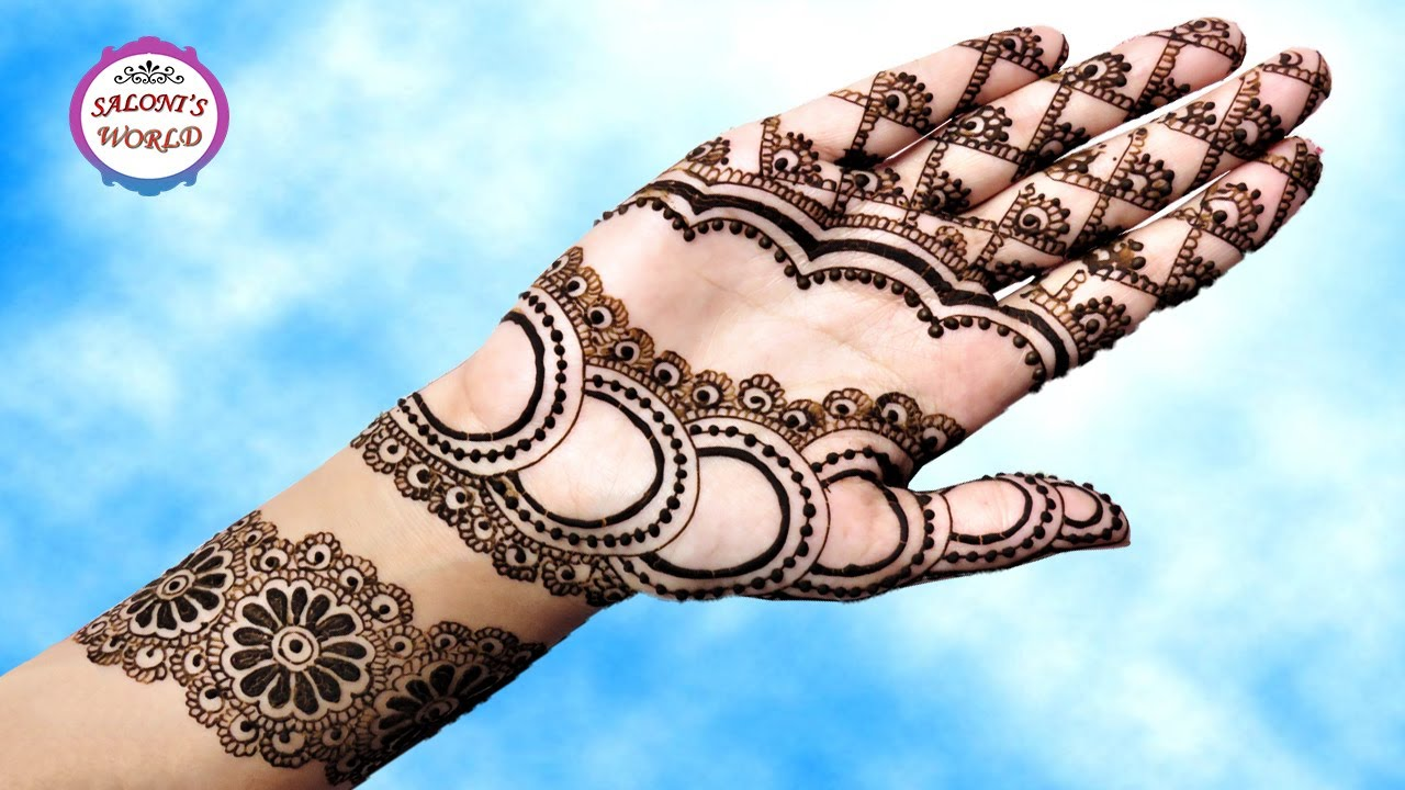 Latest Mehndi Design : How to apply latest circular floral henna mehndi designs for hands