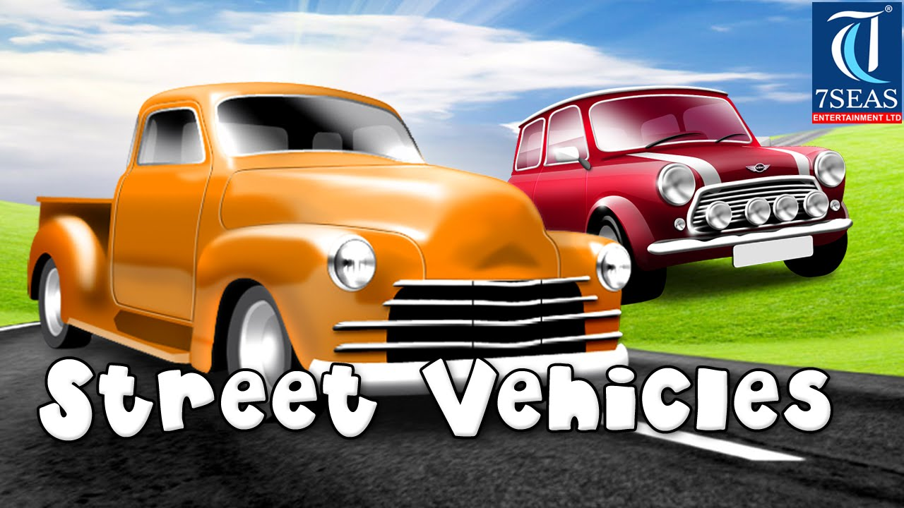 Learning Street Vehicles Names for kids