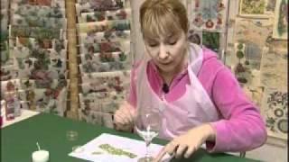 Repeat youtube video STAKLENA ČAŠA - (tehnika:konturne boje i glitter)