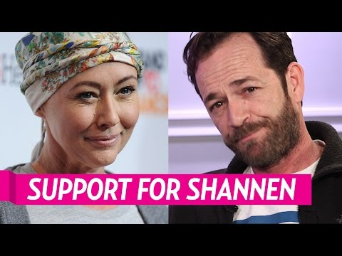 Luke Perry Hasn't Spoken to Shannen Doherty About Her Cancer Battle: 'She's in My Heart'