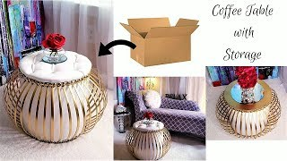 DIY 2 IN 1 STORAGE AND COFFEE TABLE FOR SMALL SPACES| SMALL SPACE DECORATING IDEAS 2019