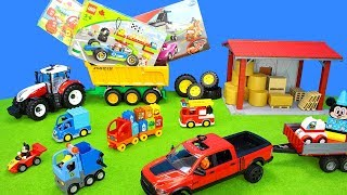 Lego Duplo Playset Unboxing | Bruder Cars & Tractor Transport | Color & Learn Toys For Kids