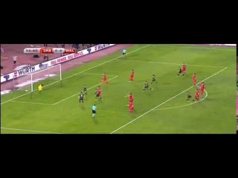Serbia 0 - 1 Wales | Aaron Ramsey penalty World Cup qualifier 2018