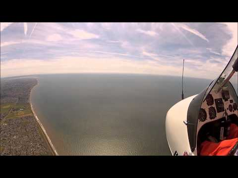 Flying over the fylde coast