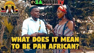 On The Grounds In Africa, What does Pan African Mean To You
