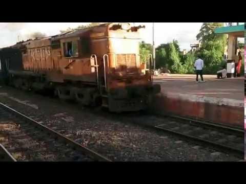 Through train passing